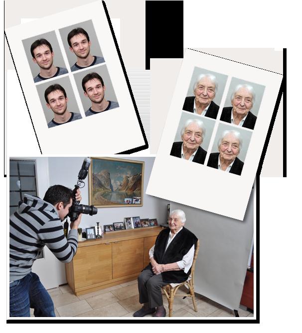 Voorbeeldpasfoto's en Pasfoto aan huis